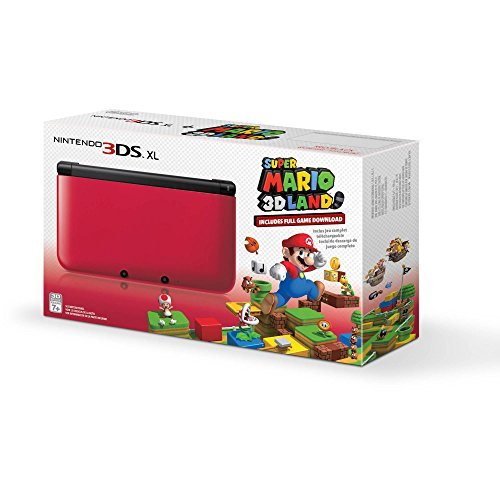 Nintendo 3DS XL Red/Black with Super Mario 3D Land Download