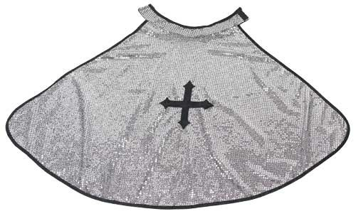 Great Pretenders Knight Silver Glitter Cape