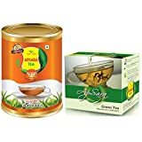 Combo Green Tea 100Gm And Of Apsara Premium VIP Black Tea 500gm