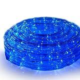 イルミネーションライト LED ロープライト チューブライト 青 ブルー 100m 3000球 防水 防雨 連結 点滅