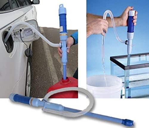 PrimeTrendz TM Diesel Fuel Water Gas Fish Tank Solvent Electric Battery Syphon Powered Pump