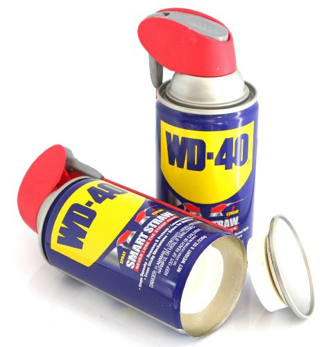 WD-40 Safe Can Diversion Stash Container+Free Pack of 1 1/4 Rasta Wrap