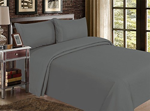 Red Nomad Luxury Duvet Cover & Sham Set, 3 Piece, Full/Queen, Charcoal Gray (Target Queen Comforter Set compare prices)