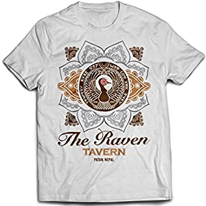 9353w Raven Tavern Mens T-Shirt Riders Of The Lost Ark Indiana Jones Temple Of Doom Lao Che