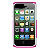 Otterbox Commuter Series Hybrid Case for iPhone 4 & 4S  - Retail Packaging - AVON Hot Pink/White
