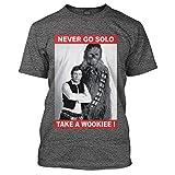 Star Wars Herren Fan T-Shirt Chewbacca mit Han Solo -