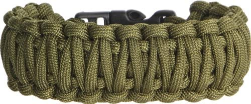 Knotty Boys 102 9quot Diameter Large OD Green Fat Boy Style Survival Bracelet with Hand Tied Nylon C