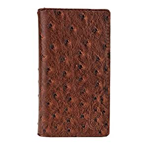 Jo Jo Croc Series Cover Leather Pouch Flip Case For Micromax Canvas Spark 2  Light Brown