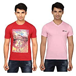 Strak Cotton Men's Casual T-Shirt (STR2057_XXL)