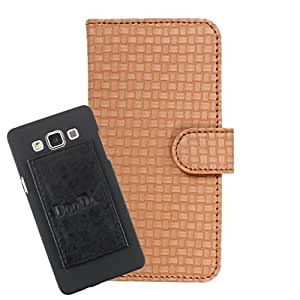 DooDa PU Leather Wallet Flip Case Cover With Card & ID Slots For Karbonn A16 - Back Cover Not Included Peel And Paste
