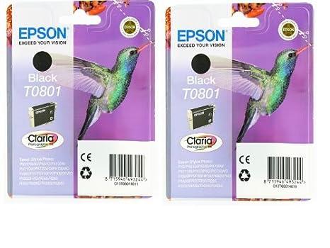 Epson T0801 x2 Cartouche d'encre Twin pack Noir