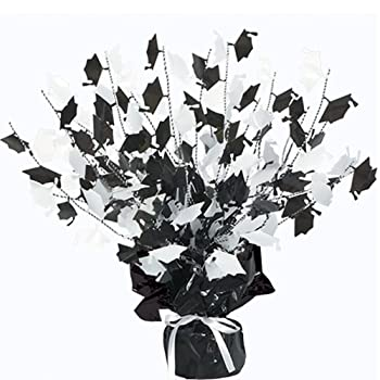 Set A Shopping Price Drop Alert For Graduate Cap Gleam 'N Burst Centerpiece (black & white) Party Accessory  (1 count) (1/Pkg)