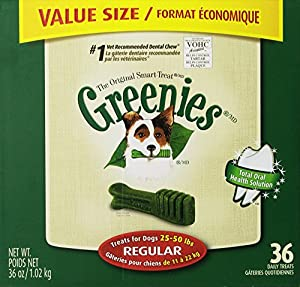 Greenies 10096455 36-Ounce Canister Regular, 36 Count