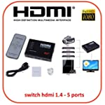 NGI�-Switch/Commutateur HDMI 5 Ports...
