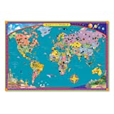 Eeboo WORLD MAP kids geography EDUCATIONAL poster ART NEW