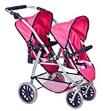 Silla de paseo para gemelos de paseo cochecito para mu�ecas 2 - Colour rosa