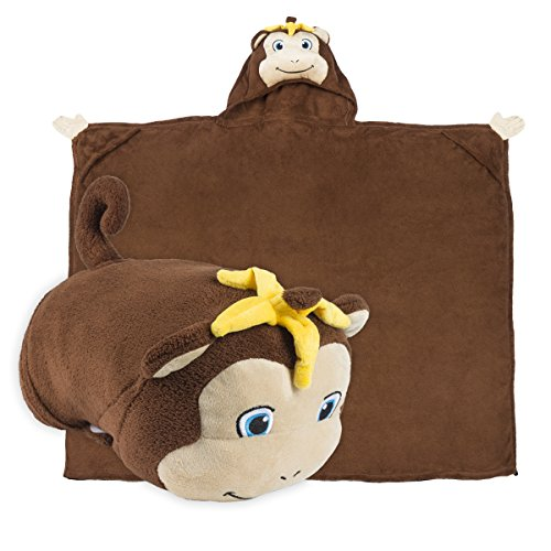 Comfy Critters Kids Huggable Hooded Blanket The Perfect