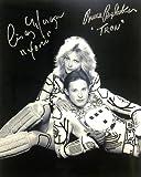 BRUCE BOXLEITNER (TRON) - CINDY MORGAN (YORI) Dual Signed/Autographed 8x10 B&W Movie Photo