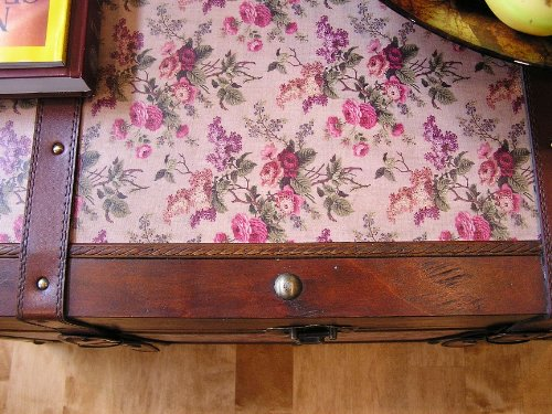 Savannah Chest Wooden Steamer Trunk - Large Size 3