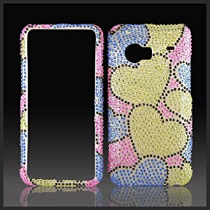 Green Blue Hearts Bling Case Droid Incredible