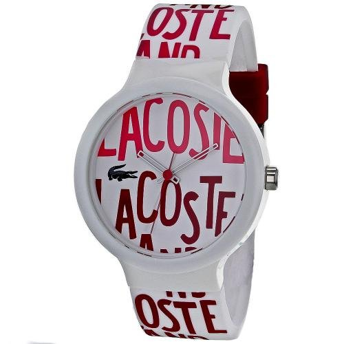 Lacoste Unisex Goa Silicone Red Pink White Watch #2020053