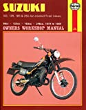 Haynes Manual for Suzuki 100, 125, 185 & 250 Air-cooled Trail bikes (79 - 89) Including an AA Microfibre Magic Mitt