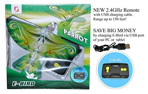 24GHz-Remote-Control-Flying-PARROT-E-Bird-with-life-like-flapping-wing-Great-kids-gift-for-indoor-out-door-use