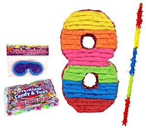Aztec Imports Number 8 Pinata Kit - Includes Pinata, 2Lb Filler, Buster Stick and Blindfold at Sears.com