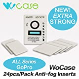 WoCase� 24/Pack EXTRA Strong Anti Fog Inserts for GoPro HERO3+ 3 2 1 Cameras 24/Pack