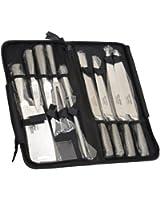 Lot de couteaux de chef Eclipse, de Ross Henery Professional, 9 pièces, en acier inoxydable de grande qualité, avec étui de transport