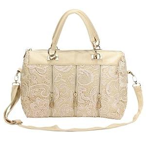 Ladies White Shoulder Bag 25