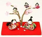 『桜の宴 幸せ雛』 お雛様/雛人形/玄関にも飾れる小型タイプ