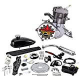 Zeda 80 Complete 80cc Bicycle Engine Kit - Firestorm Edition (Silver,36 Tooth) (Color: Silver, Tamaño: 36 Tooth)