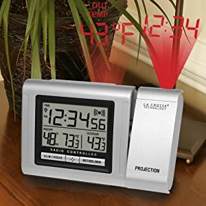 La Crosse Technology  WT-5120U Projection Alarm Clock with Outdoor Temperature
