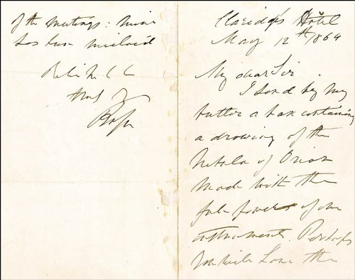 Earl Of Rosse Iii - Autograph Letter Signed 05/12/1864