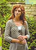 Carol Meldrum Festive Fancy Women's Lace Bolero with it's hint of glitter Knitting Pattern: To fit bust or chest 32