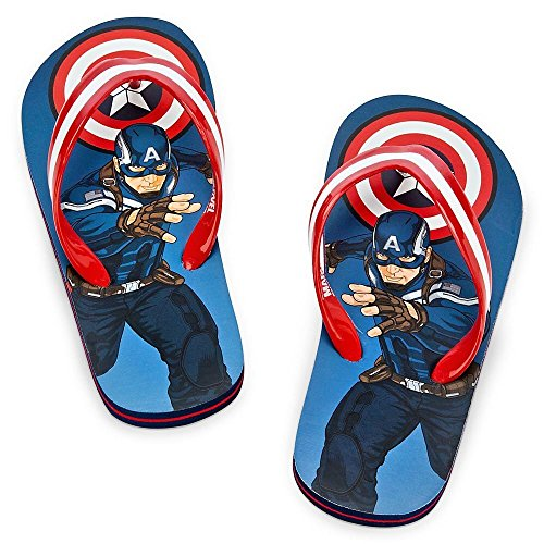 New Movie Captain American Flip Flops for Boys Size 2/3