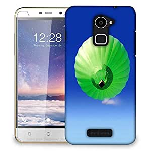 Snoogg Green Parachute Balloons Designer Protective Phone Back Case Cover For Coolpad Note 3 Lite