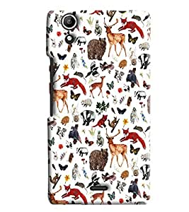 Blue Throat Animal Inpsired Hard Plastic Printed Back Cover/Case For Micromax Selfie 2