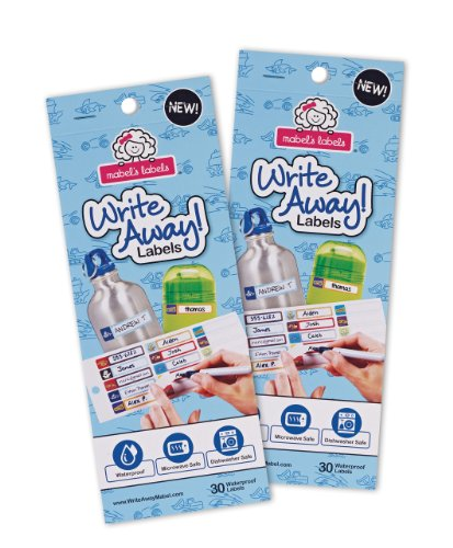 Mabel's Labels Write Away Peel and Stick Labels for Boys, 60 Count
