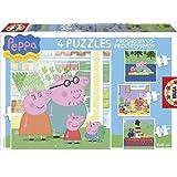 Peppa Pig - Puzzles progresivos: 6 - 9 - 12 - 16 piezas (Educa Borrás 15918)