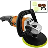 "7"" Electric Car Polisher/Buffer/Sander 2 Bonnet+2 Sandpaper Variable Speed +Case Auto Cars Trucks Boats Detail Waxer"