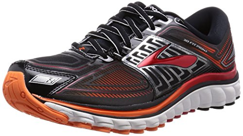 Brooks Glycerin 13 Scarpe da corsa, Uomo, Multicolore (Black/High Risk Red/Silver), 41
