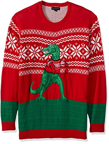 Blizzard Bay Men's Big and Tall Trex Hates Sweater Ugly Christmas ...