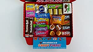 American Hershey's Retro Chocolate Sweets Candy Present Hamper Reese's Mini Bite Fun Size Bars Retro Sweets Tootsie Roll Junior Mints Wonka Laffy Taffy Nerds Jolly Ranchers Butterfinger Baby Ruth Charleston Chew Miniatures UPDATED AGAIN ONLY BUY FROM CAND