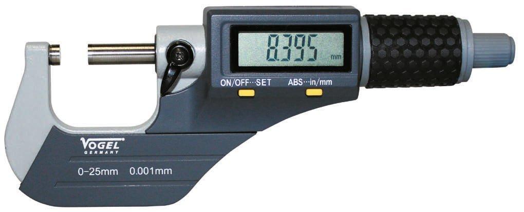 Vogel DigitalMessschraube IP40 DIN 863 025mm gummierte Friktionsratsche  BaumarktBewertungen