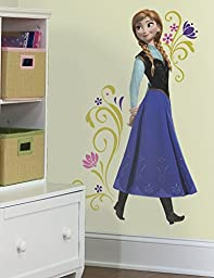 Roommates Rmk2370Gm Frozen Anna Peel And Stick Giant Wall Decals, 1-Pack