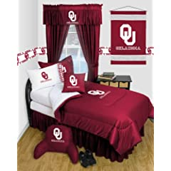 Oklahoma Sooners QUEEN Size 12 Pc Bedding Set - Locker Room - (Comforter, 2 Pillow... by Sports Coverage