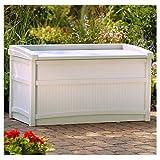 Suncast DB5500 Deck Box (Color: Tp, Tamaño: 50 Gallon)