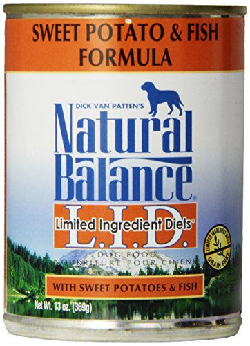 Natural Balance Canned Dog Food, Grain Free Limited Ingredient Diet Fish and Sweet Potato Formula, 12 x 13 Ounce Pack (Fish Potato compare prices)